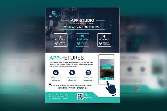 Mobile App Apps Business Flyer