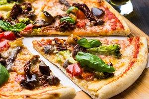 Fresh hot pizza