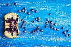 Fresh homemade blueberry muffins