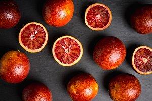 Red Sicilian oranges