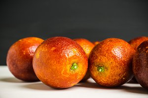 Red Sicilian oranges