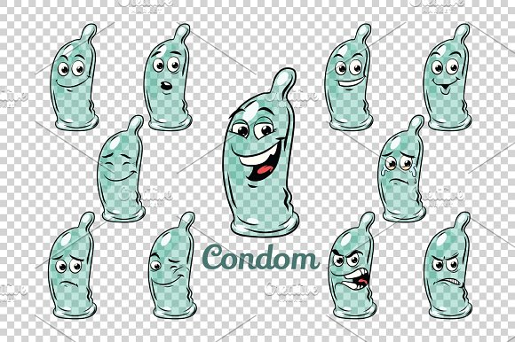 Condom Emotions Characters Collection Set