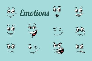 emotions characters collection set