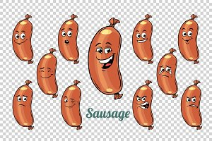 sausage emotions characters collection set