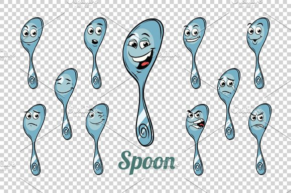 Spoon Emotions Characters Collection Set