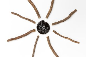 Liqorice roots and black wheel