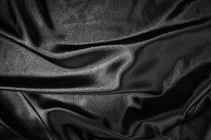 Shiny black satin fabric