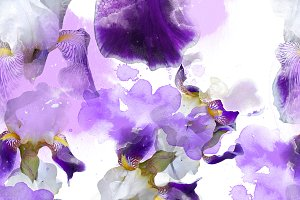 irises seamless pattern | JPEG