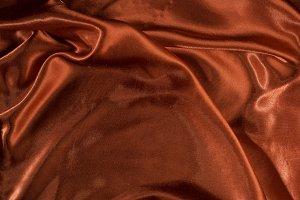 Shiny red satin fabric