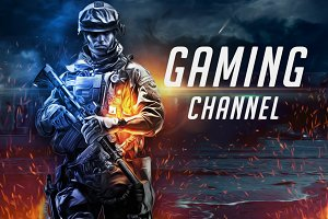 10 Gaming Youtube Banner Template Creative Photoshop Templates Creative Market