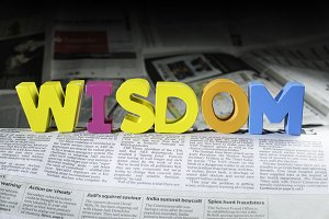 Word wisdom on newspaper