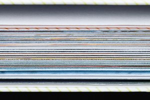 Close-up of pages of book. Abstract background. Macro shot.