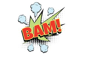 bam comic word