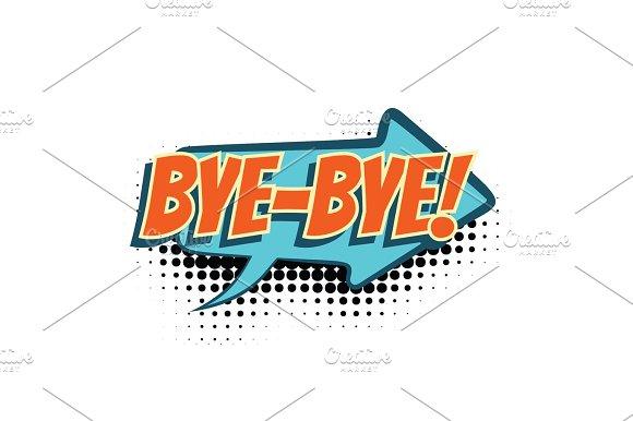 Bye Comic Word
