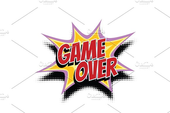 Game Over Comic Word