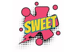 sweet comic word