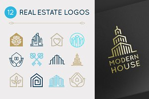 12 real estate logos