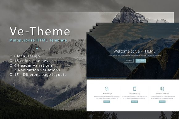 Ve-Theme Multipurpose Template