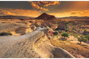 Cappadocia mountain landscape, Turkey