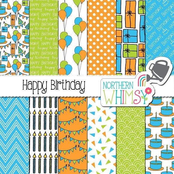 Boys Birthday Patterns