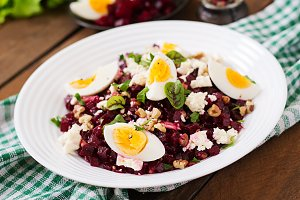 Salad baked beets