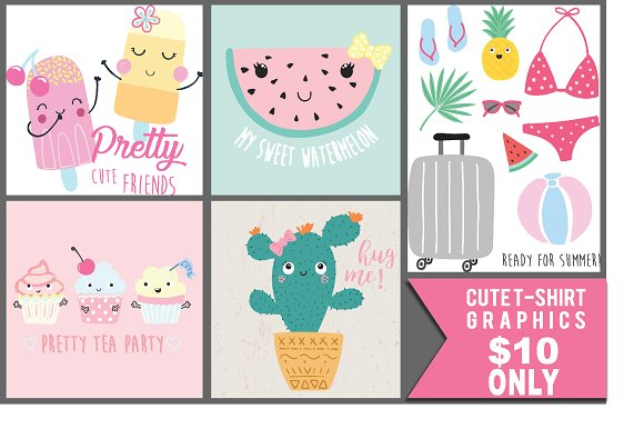 Cute Graphics For Girl T-shirt Etc