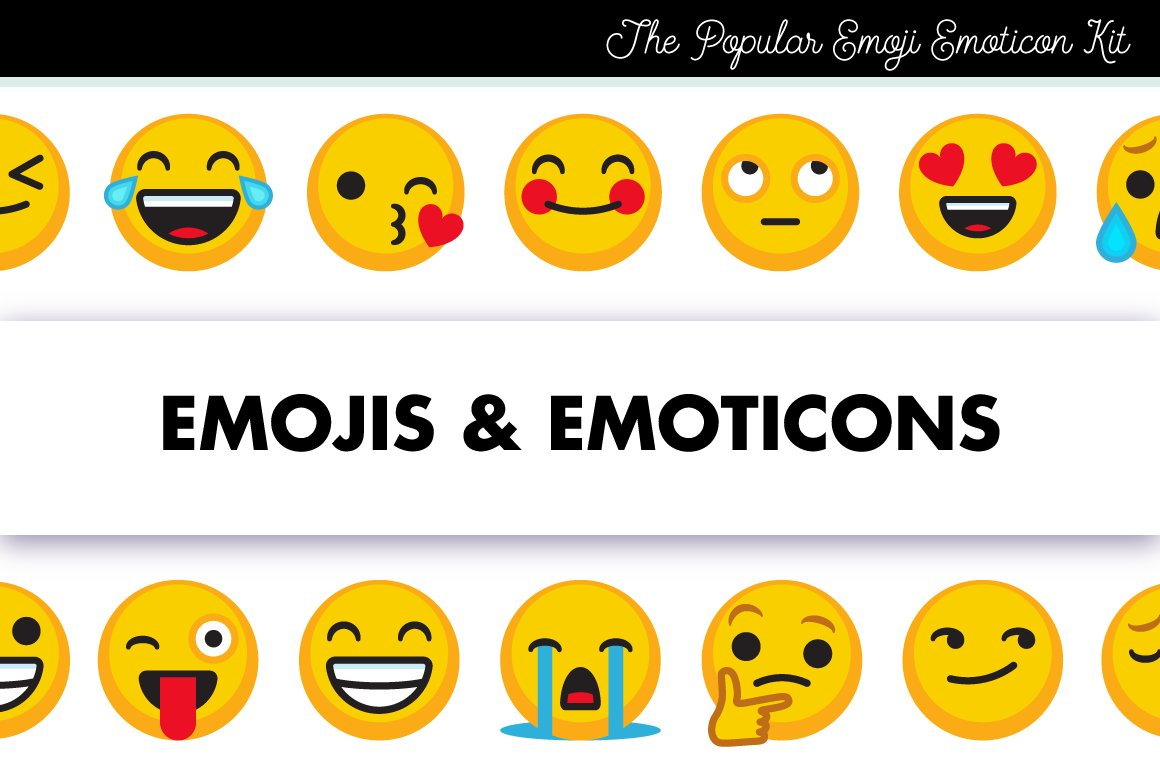 Emojis emoticons and smileys icons creative market buycottarizona Choice Image