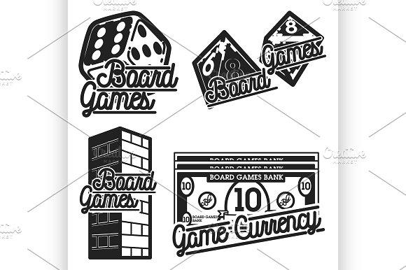 Vintage Board Games Emblems