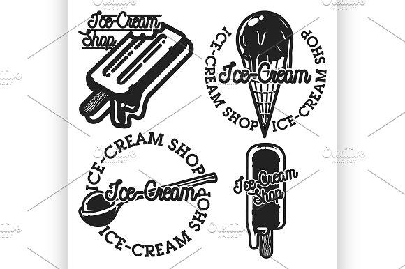 Vintage Ice-cream Shop Emblems