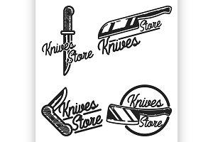 Vintage knives store emblems