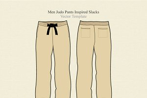 Men Judo Pants Inspired Slacks