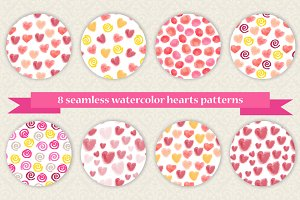 Set of 8 Valentine's Day patterns