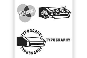 Vintage typography emblems