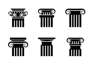 Antique column vector set