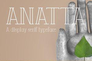 Anatta Display Serif Typeface