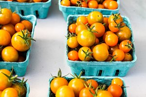 Yellow tomatoes from farms marke