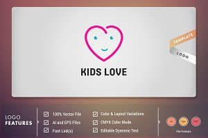 Kids Love - Logo Template