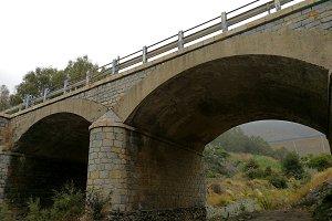 Bridge over a dry river