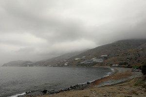 A foggy day on sea