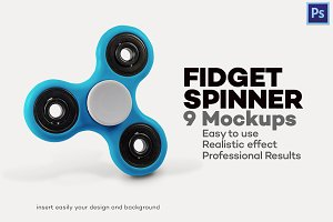 Fidget Spinner - 9 Mock-ups