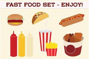 Web Elements - Fast Food Set