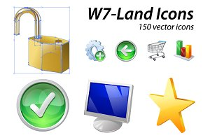 W7-Land | 150 Vector Icons