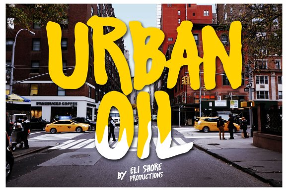 Urban Oil Typeface