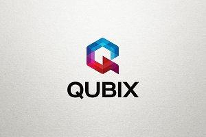 Q Letter Logo - Qubix