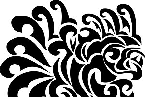 Black tribal pattern in vector