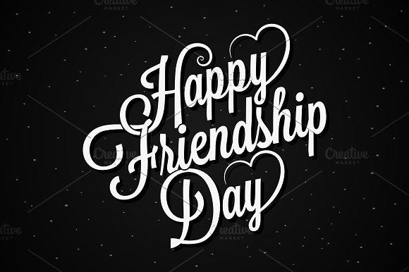 Friendship Day Lettering Vintage