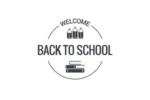 back to school logo design