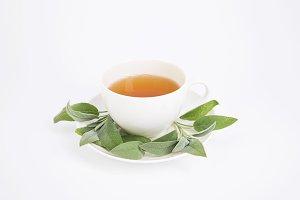 Fresh tea with sage