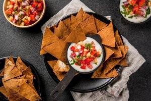 Queso blanco with Tortilla Chips