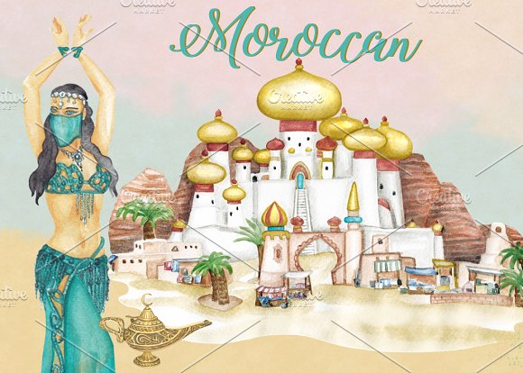 Moroccan Arabian Clipart Images